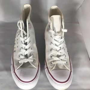 Women All Star White Studded Converses Sneakers 👟